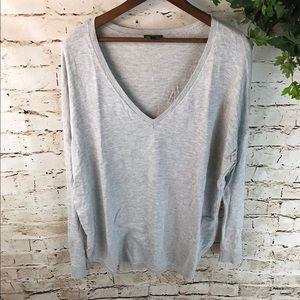 Express Oversized V-neck Light Sweater